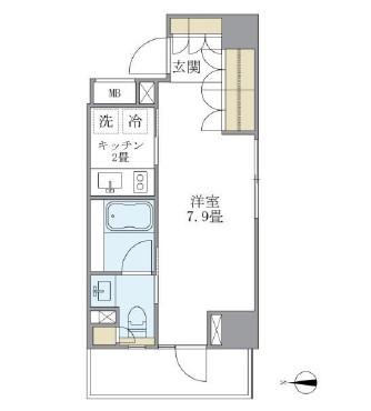 アパートメンツ白金高輪1002号室