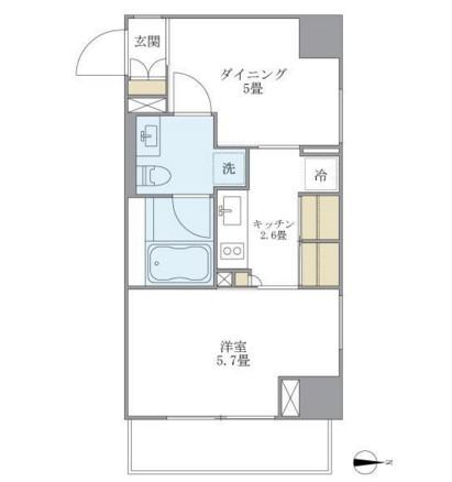 アパートメンツ白金高輪1003号室