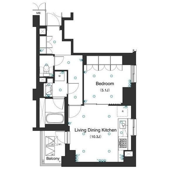 アパートメンツ不動前203号室