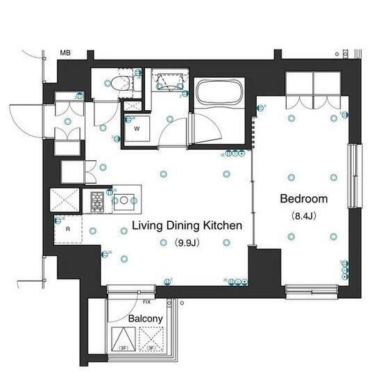 アパートメンツ不動前305号室
