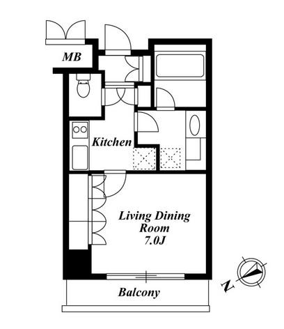 アパートメンツ都立大学 208号室