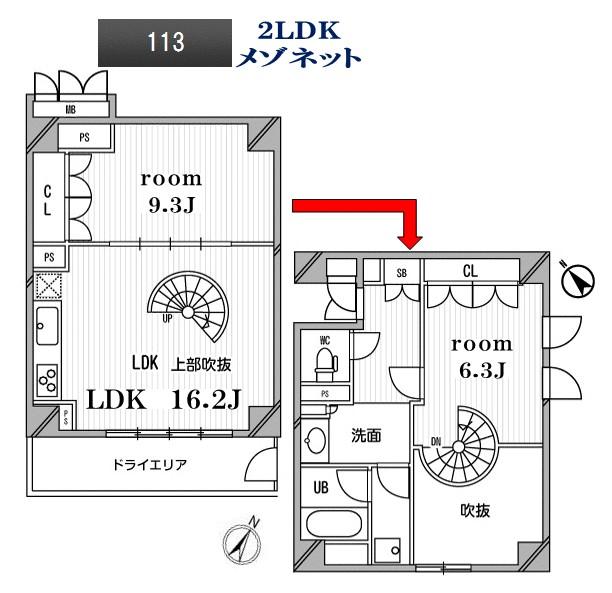 アパートメンツ目黒行人坂113号室