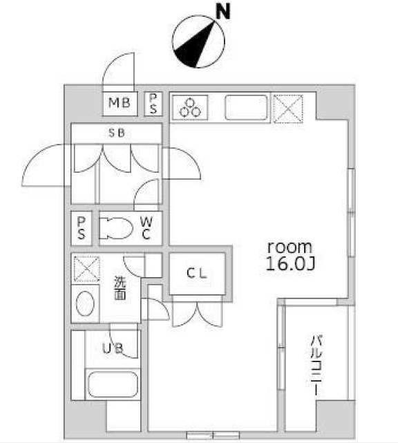 アパートメンツ目黒行人坂412号室