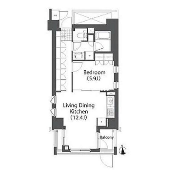 アパートメンツ白金三光坂401号室