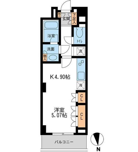 レジデンス白金コローレ204号室