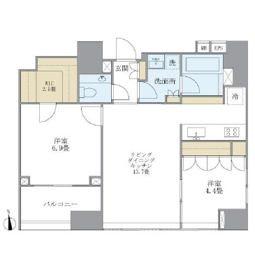 アパートメンツタワー麻布十番1203号室