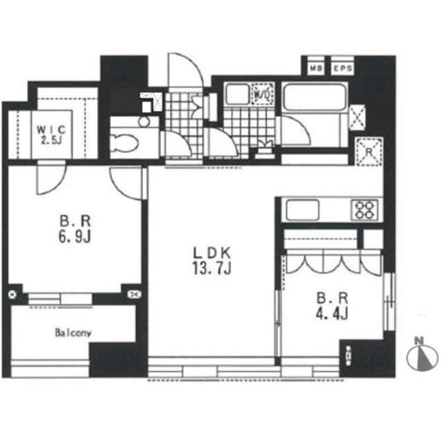 アパートメンツタワー麻布十番1303号室