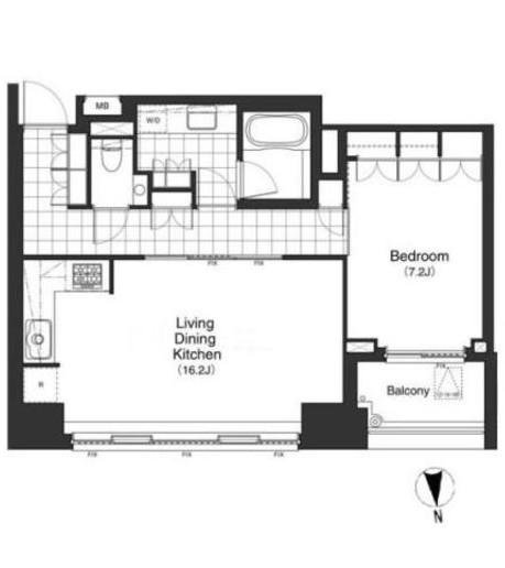 アパートメンツタワー麻布十番1601号室