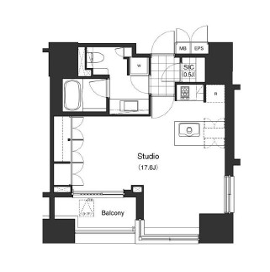 アパートメンツタワー麻布十番304号室