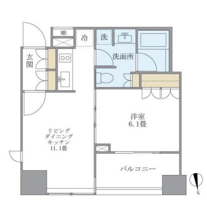 アパートメンツタワー麻布十番401号室