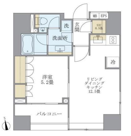 アパートメンツタワー麻布十番504号室