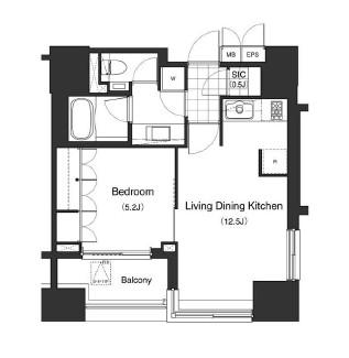 アパートメンツタワー麻布十番604号室