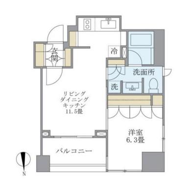 アパートメンツタワー麻布十番702号室