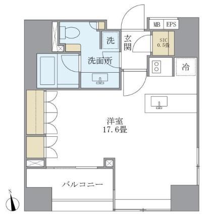アパートメンツタワー麻布十番704号室