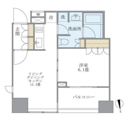 アパートメンツタワー麻布十番901号室