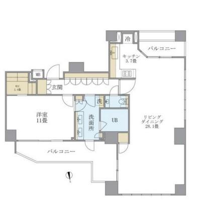 アパートメンツタワー六本木1801号室