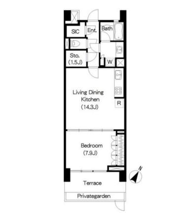 アパートメンツ三軒茶屋ブラッサムテラス103号室