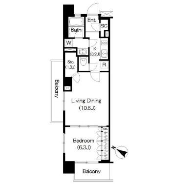 Brillia ist 三軒茶屋 ブラッサムテラス207号室