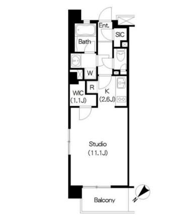 アパートメンツ三軒茶屋ブラッサムテラス301号室