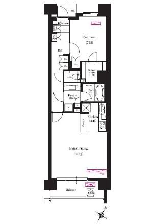 アパートメンツ三軒茶屋ブラッサムテラス613号室