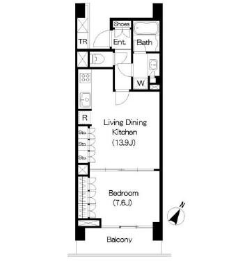 アパートメンツ三軒茶屋ブラッサムテラス706号室