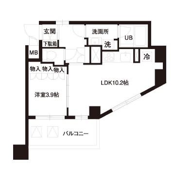 レジディア白金高輪406号室