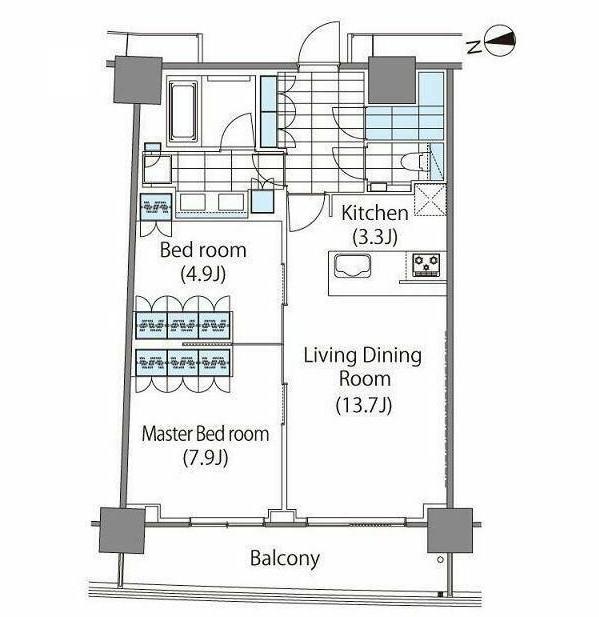 パークハビオ新宿イーストサイドタワー1211号室