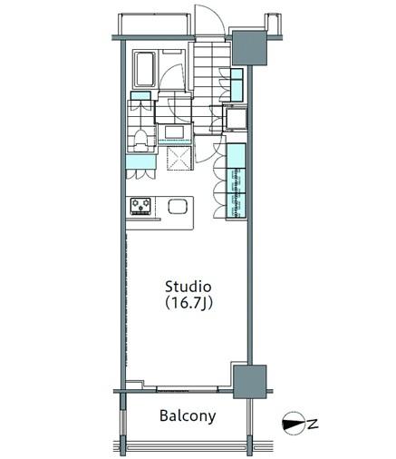 コンフォリア新宿イーストサイドタワー1227号室