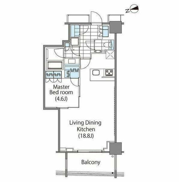 コンフォリア新宿イーストサイドタワー1302号室