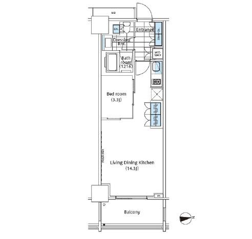 パークハビオ新宿イーストサイドタワー1724号室
