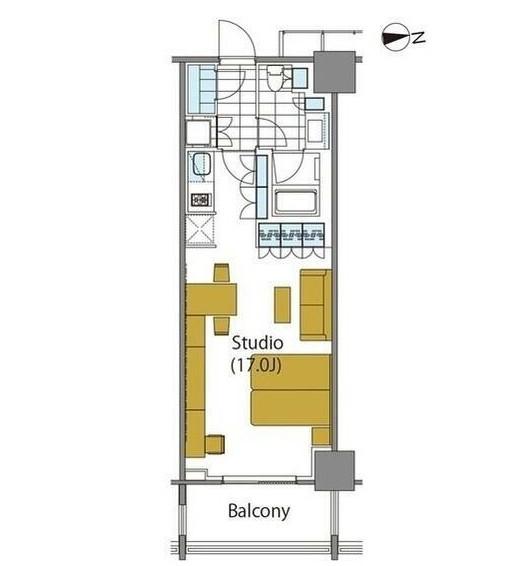 コンフォリア新宿イーストサイドタワー1825号室