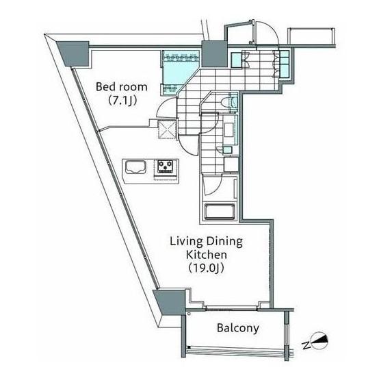パークハビオ新宿イーストサイドタワー2101号室
