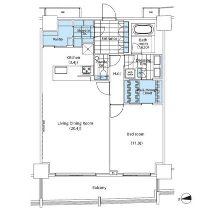 パークハビオ新宿イーストサイドタワー2104号室