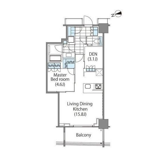 コンフォリア新宿イーストサイドタワー2202号室