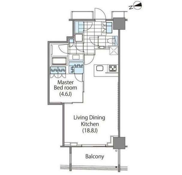 コンフォリア新宿イーストサイドタワー2502号室