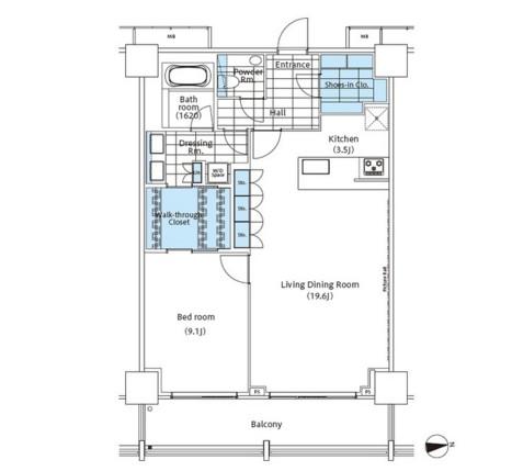 パークハビオ新宿イーストサイドタワー2717号室