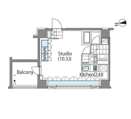 コンフォリア新宿イーストサイドタワーA304号室