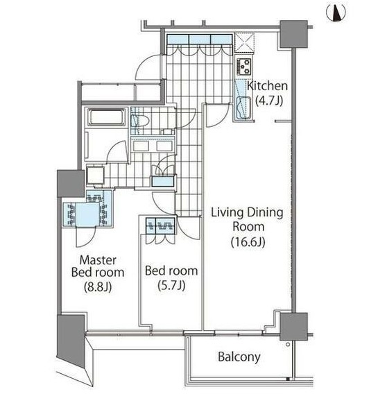 コンフォリア新宿イーストサイドタワー414号室