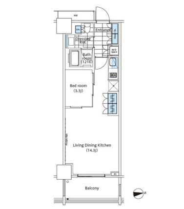 コンフォリア新宿イーストサイドタワー524号室