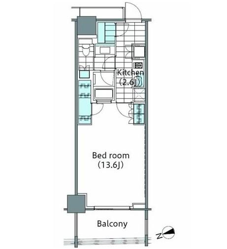 コンフォリア新宿イーストサイドタワー605号室
