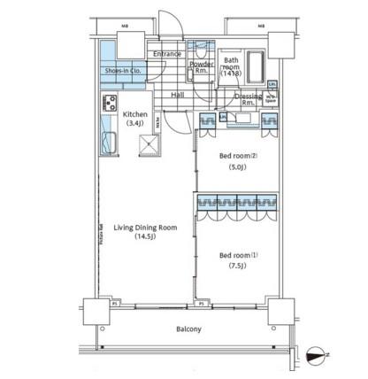 パークハビオ新宿イーストサイドタワー719号室