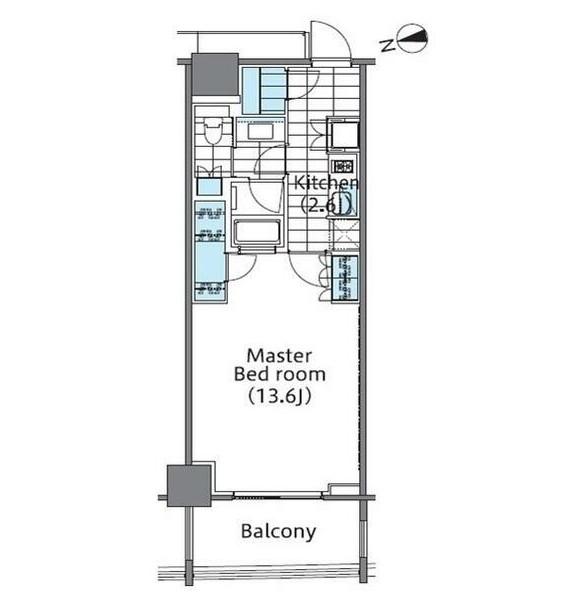 コンフォリア新宿イーストサイドタワー805号室