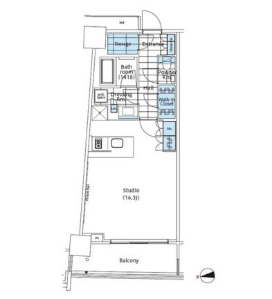 コンフォリア新宿イーストサイドタワー807号室