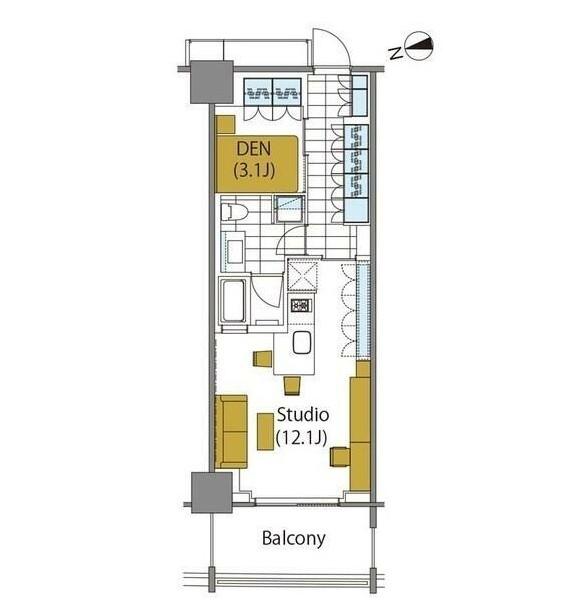 コンフォリア新宿イーストサイドタワー903号室