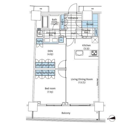 パークハビオ新宿イーストサイドタワー911号室
