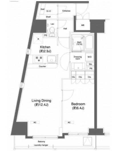 プラウドフラット白金高輪1204号室