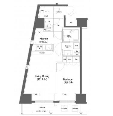 プラウドフラット白金高輪304号室