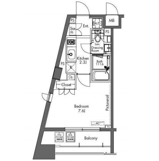 プラウドフラット三軒茶屋202号室