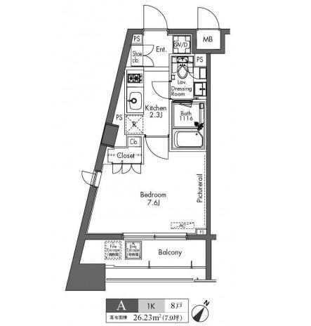 プラウドフラット三軒茶屋304号室