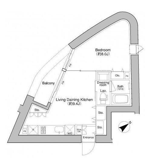 プラウドフラット新宿御苑201-1号室